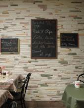 DÉCO LOGIQUE Revêtement pour mur intérieur imitation pierre (modèle CÉLESTINE) couleur YOLLY Fabriqué de papier recyclé