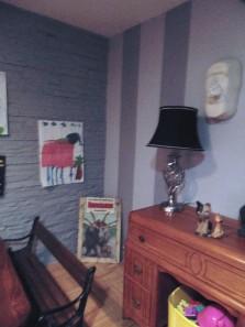 CACHE BOÎTE DE MOUCHOIRS murale pièce UNIQUE fabriqué avec DÉCO LOGIQUE.