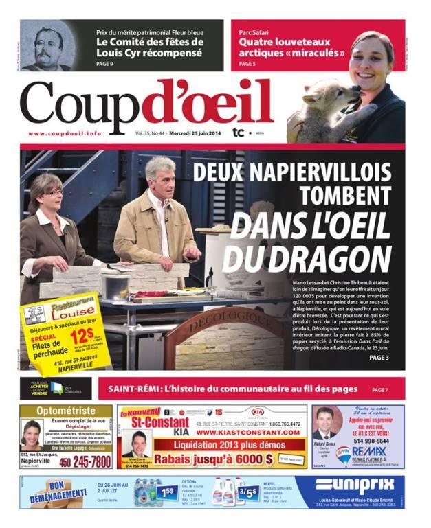 journal le coup d'oeil 25 juin 2014