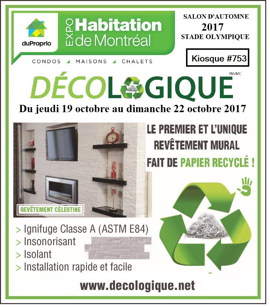 Salon de l'habitation de MONTRÉAL 19 au22 octobre 2017