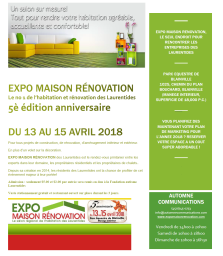 EXPO MAISON RÉNOVATION BLAINVILLE Avril 2018