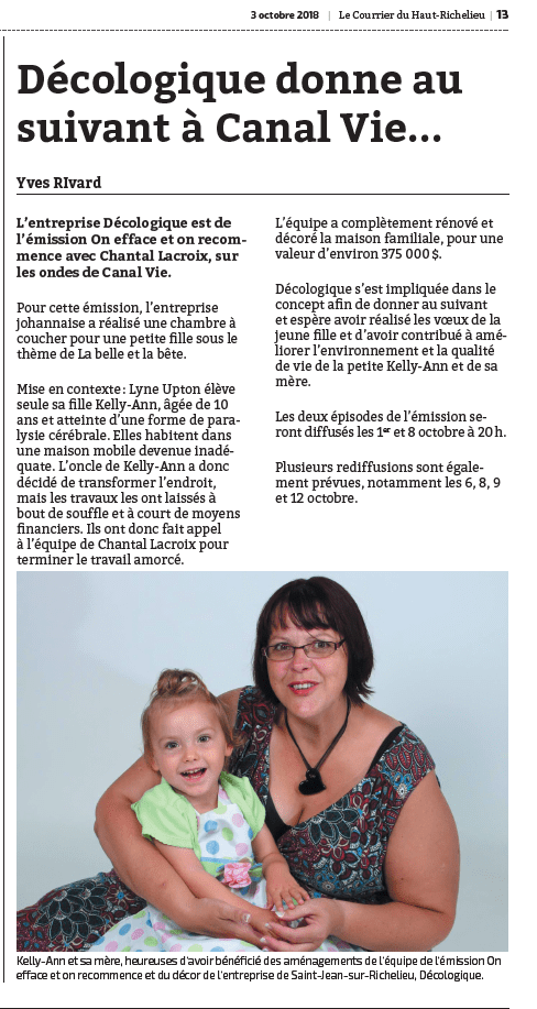 JOURNAL LE COURRIER page 13 UPTUN ON EFFACE ET ON RECOMMENCE